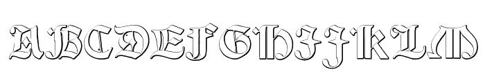 Salterio Font UPPERCASE