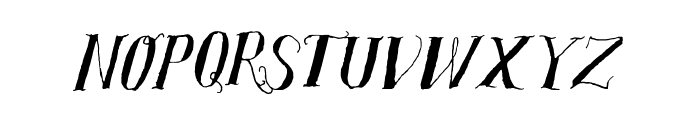 SalvatStudy-Regular Font UPPERCASE