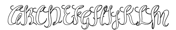 Sam White Font UPPERCASE