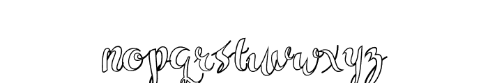 Sam White Font LOWERCASE