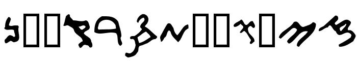 Samaritan Script 300 B.C. Font LOWERCASE