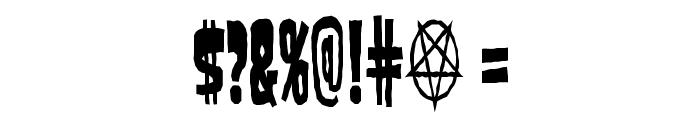 SamdanEvilCondensed Font OTHER CHARS