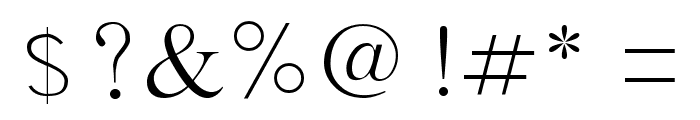 SamtolSlim Font OTHER CHARS