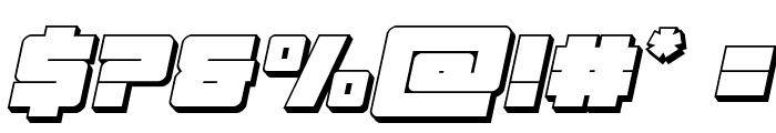 Samurai Terrapin 3D Italic Font OTHER CHARS