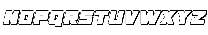 Samurai Terrapin 3D Italic Font UPPERCASE