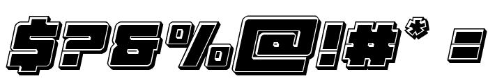 Samurai Terrapin Bevel Italic Font OTHER CHARS