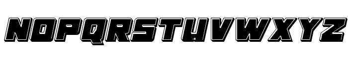 Samurai Terrapin Bevel Italic Font UPPERCASE