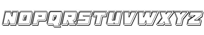 Samurai Terrapin Engraved Italic Font UPPERCASE