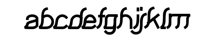 Samurai in UK Font LOWERCASE