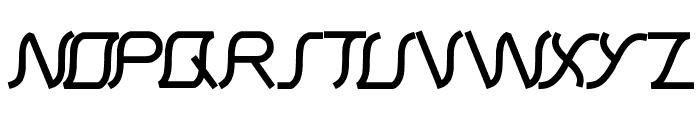 Samurai in UK Font UPPERCASE