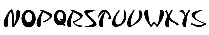 Samurai Font UPPERCASE
