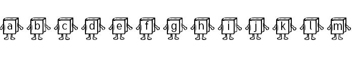 Samys Bookified Tuffy Font LOWERCASE