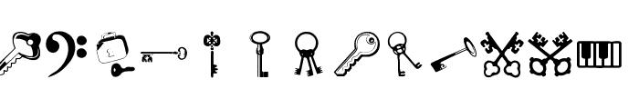 Samys Keys'N'Keys Font UPPERCASE