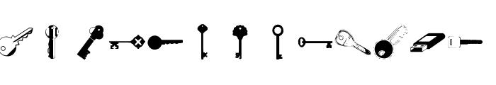 Samys Keys'N'Keys Font LOWERCASE