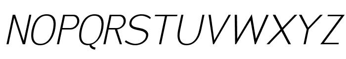 San Frediano Light Italic Font UPPERCASE