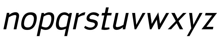 SanFrediano-Italic Font LOWERCASE