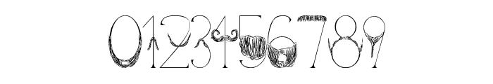 Sanchez Mustache Font OTHER CHARS