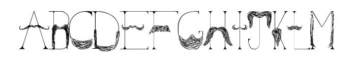 Sanchez Mustache Font UPPERCASE