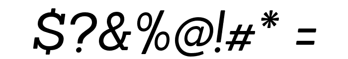 Sanchez-RegularItalic Font OTHER CHARS