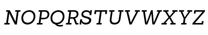 Sanchez-RegularItalic Font UPPERCASE