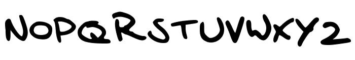 Sander's Scribble Font UPPERCASE