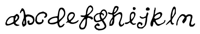 SandersHand Font LOWERCASE