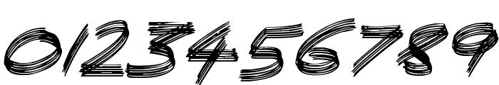 Sandscrape Italic Font OTHER CHARS