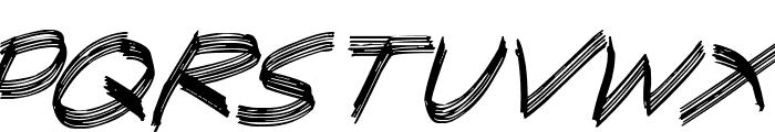 Sandscrape Italic Font UPPERCASE