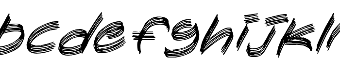 Sandscrape Italic Font LOWERCASE
