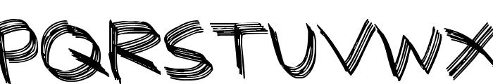 Sandscrape Font UPPERCASE