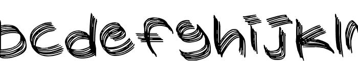 Sandscrape Font LOWERCASE