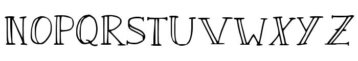 Sandwich Paper Light Font UPPERCASE