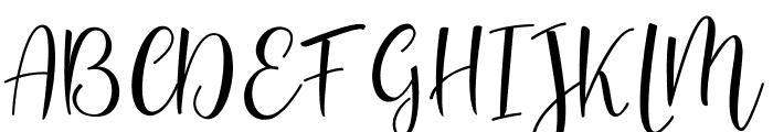 Sanies Script Font UPPERCASE