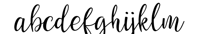 Sanies Script Font LOWERCASE