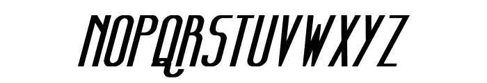 Sanity Bold Italic Font UPPERCASE