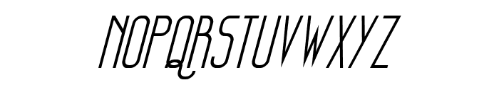 Sanity Italic Font UPPERCASE