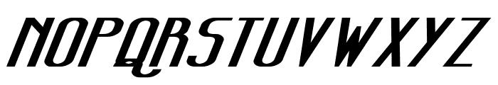 Sanity Wide Bold Italic Font UPPERCASE