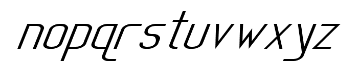 Sanity Wide Italic Font LOWERCASE