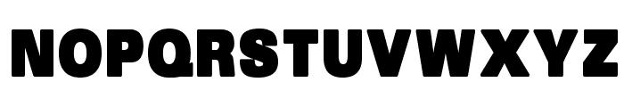 SansBlack Font UPPERCASE