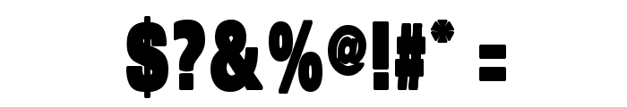 SansBlackSmall Font OTHER CHARS