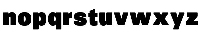 SansBlack Font LOWERCASE