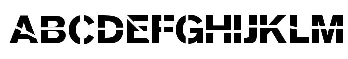SansKleinCut Font UPPERCASE