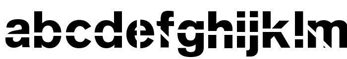 SansKleinCut Font LOWERCASE