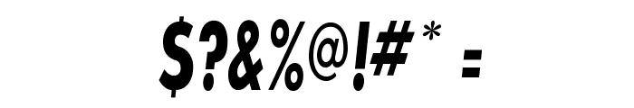 SansSerifBldFLFCond-Italic Font OTHER CHARS