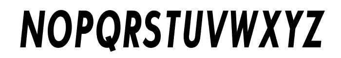 SansSerifBldFLFCond-Italic Font UPPERCASE