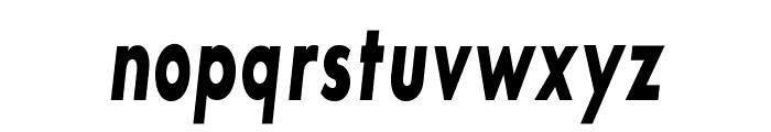 SansSerifBldFLFCond-Italic Font LOWERCASE