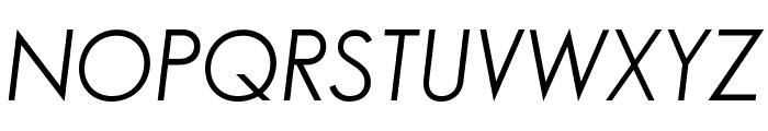 SansSerifBookFLF-Italic Font UPPERCASE