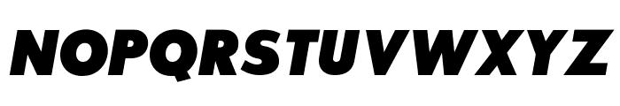 SansSerifExbFLF-Italic Font UPPERCASE