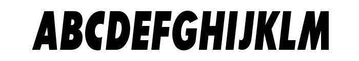 SansSerifExbFLFCond-Italic Font UPPERCASE