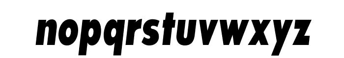 SansSerifExbFLFCond-Italic Font LOWERCASE